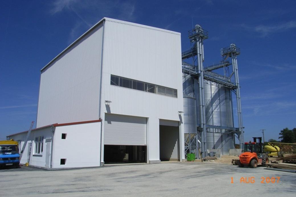 Neubau Getreideanlage BayWa AG Standort Engstingen-Haid 2007  Planung / Ausschreibung / Projektüberwachung